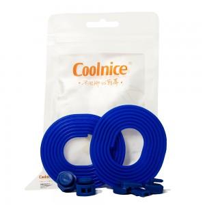 Силиконовые шнурки Coolnice Синие (ДФ04)