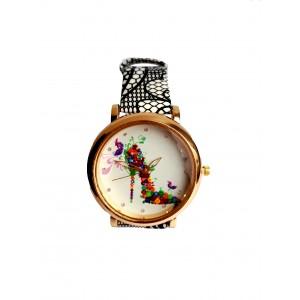 Часы женские CFTY Черно-белые (ТЧБ-0032)