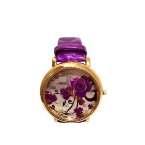 Часы женские CFTY Фиолетовые (ФФ-0032)