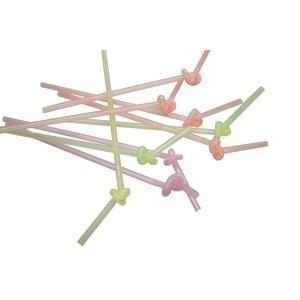 Трубочки для коктейля с длинной гофрой 250 - 360 мм 100 шт Разноцветные (76078)