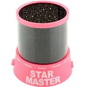 Проектор звездного неба Star Master с USB-кабелем и адаптером Pink (SM014)
