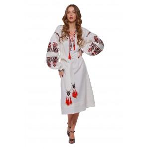 """Платье-вышиванка 2KOLYORY """"Берегиня"""" M/L Молочный (3049-M/L)"""