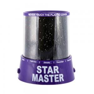 Проектор звездного неба Star Master с USB-кабелем и адаптером Purple (SM015)