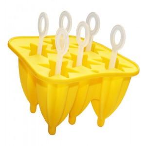 Форма силиконовая Hauser Звездочка для мороженого на палочке 6 порций (HH-398_psg)