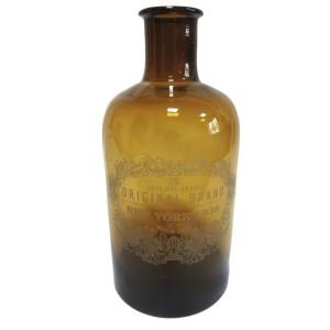 Бутылка декоративная 20 см Коричневая (655543)