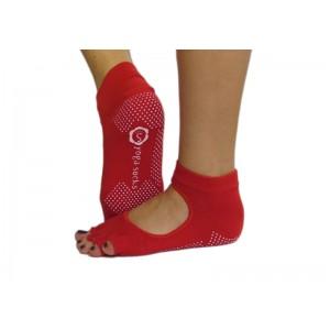 Носки для йоги нескользящие RAO Красные (hub_aoeU37785)