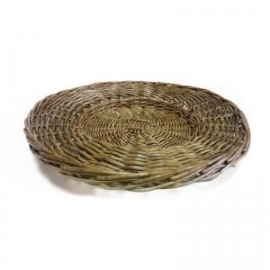 Тарелка плетённая Коричневая (hub_hub3sfwhfle832)