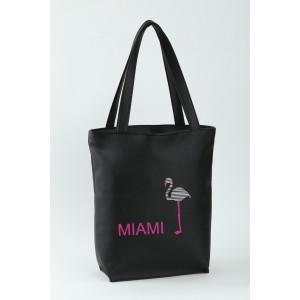 Сумка-шоппер с вышивкой Miami Черный (SB_025_fly_e)