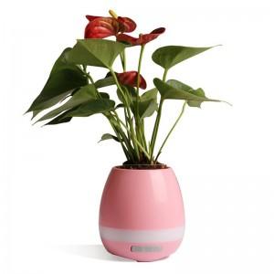 Умный музыкальный цветочный горшок Smart Music Flower Pot Розовый