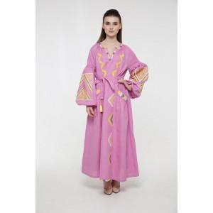 """Платье-вышиванка 2KOLYORY """"Вирій"""" M-L Розовый (3065-M/L)"""
