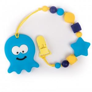 Силиконовый прорезыватель BabyMio Осьминог Синий (PROSO1)