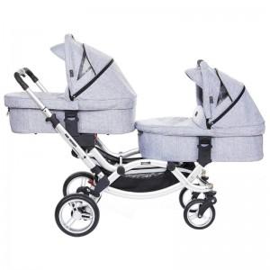 Универсальная коляска для двойни ABC Design Zoom Серый (71085/518K1)