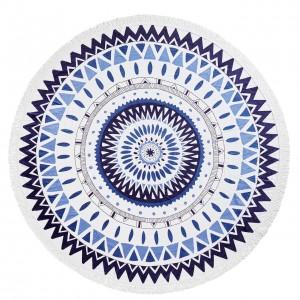 Пляжный коврик Kronos Top Мандала голубая  (top-453)