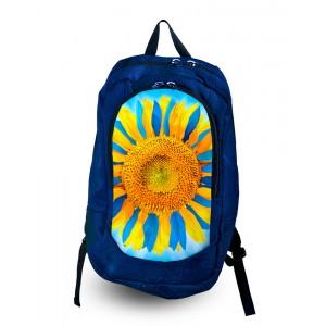 Рюкзак с фотопечатью Желто-голубой подсолнух (168-1652608)