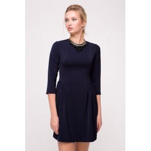 Платье Jill 24636 с колье 42 Темно-синий