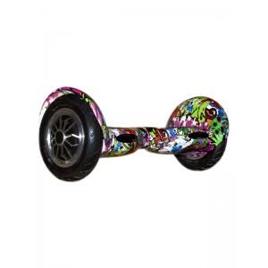 Гироборд Smart Balance 10 Граффити фиолетовый (+Mobile APP +Balance)