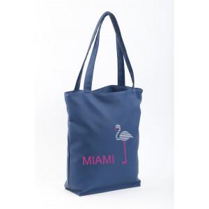 Сумка-шоппер с вышивкой Miami Синий (SB_025_fly_a)