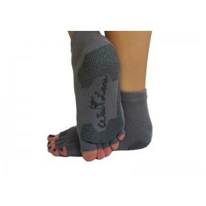 Носки для йоги нескользящие RAO Серые (hub_totg43750)
