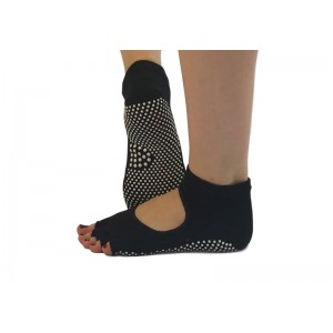 Носки для йоги нескользящие RAO Черные (hub_YNPo10768)