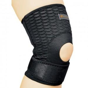 Бандаж спортивный для колена Spokey Lafe фиксатор открытый XL Черный (s0416)