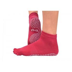 Носки для йоги нескользящие RAO Малиновые (hub_JzNH17351)