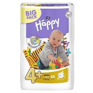 Подгузники Bella Happy Maxi Plus 4+ (9-20 кг), 62 шт. (385746325)