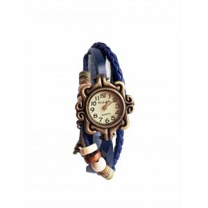 Часы женские кварцевые Viser Vintage Синие (0032Bl)
