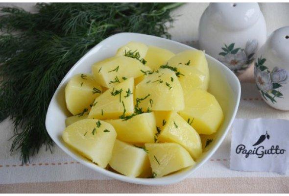 Картофель отварной пошаговый рецепт