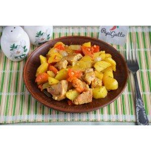Оджахури (Жареная картошка с мясом)