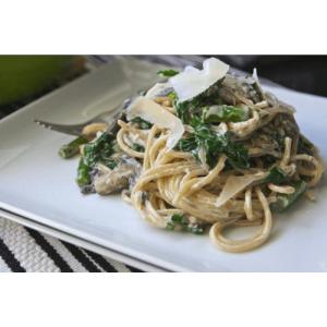 Паста (спагетти) с грибами в нежном сливочном соусе