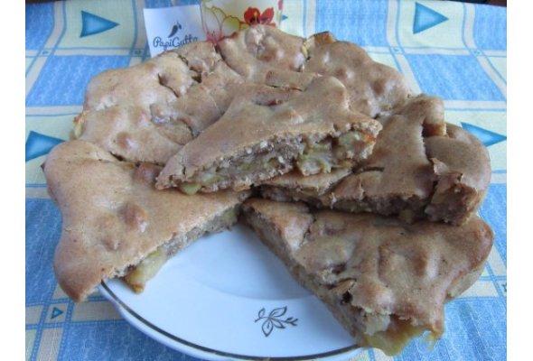 Постный пирог с яблоками