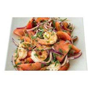Салат із креветками, помідорами і лаймом