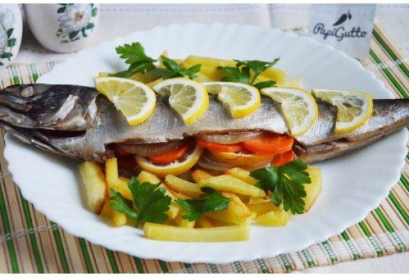 Скумбрія в духовці (риба запечена в фользі)