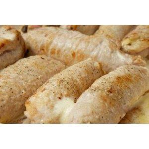 Свиные рулетики с грибами и сыром (крученики)