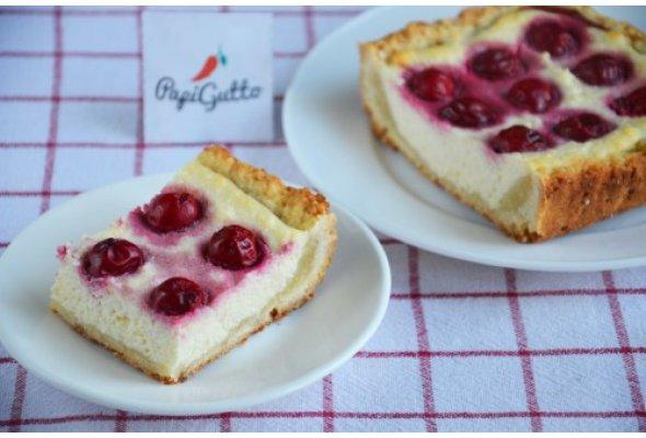 пирог творожный с вишней рецепты с фото