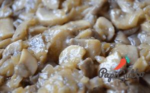Паста (спагеті) з грибами в ніжному вершковому соусі 6