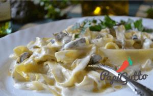 Паста (спагеті) з грибами в ніжному вершковому соусі 10