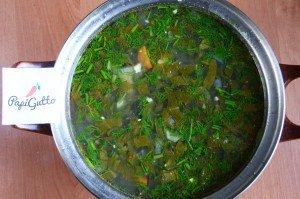 Зеленый борщ со щавелем 15