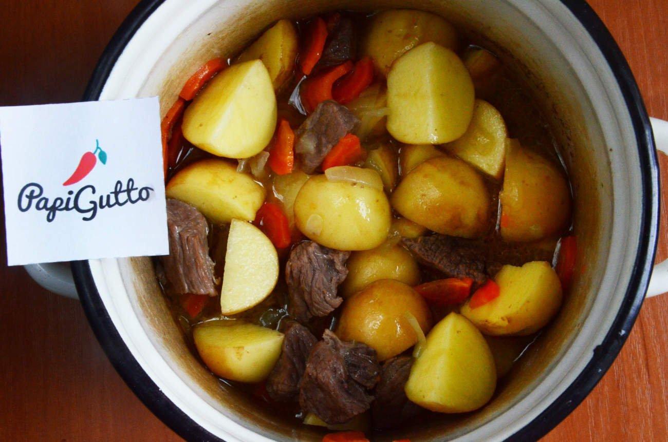 Говядина тушеная с картофелем и овощами рецепт пошагово