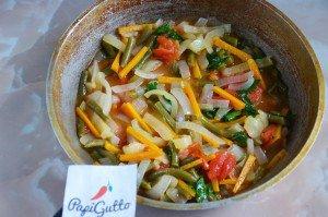 Стручковая фасоль тушеная с овощами 14