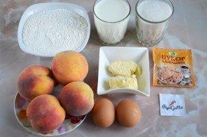 Пирог с персиками 1