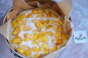 Пирог с персиками 13