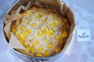 Пирог с персиками 14