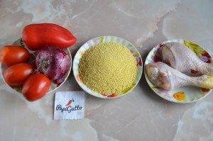 Кускус с курицей и овощами 1