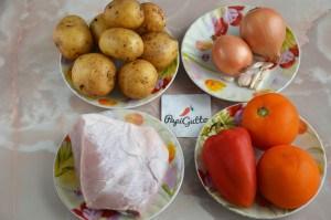Оджахурі (Смажена картопля з м'ясом) 1