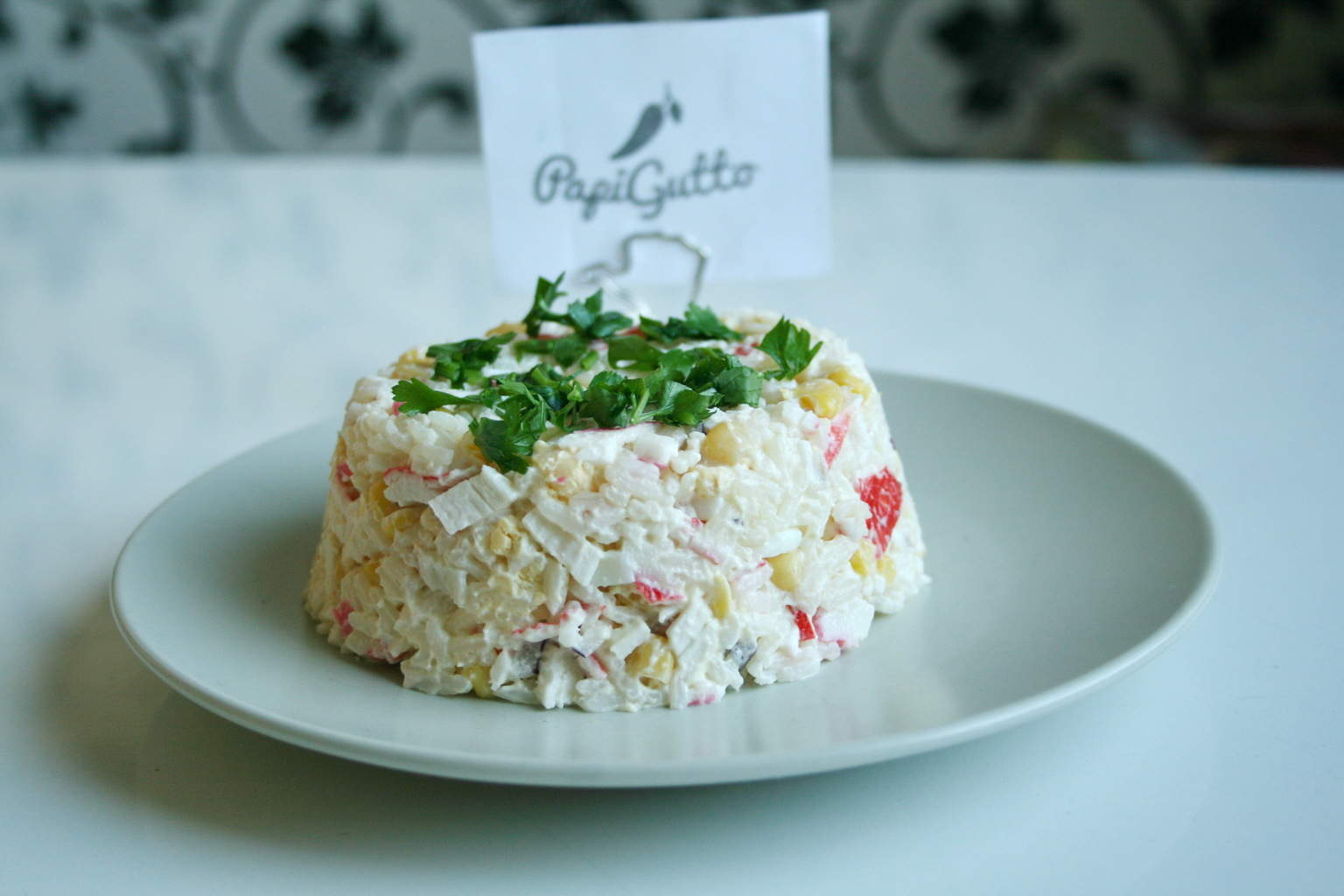 салат с крабових паличок рецепт