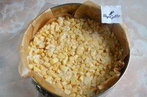 Пирог на кефире с яблоками 9