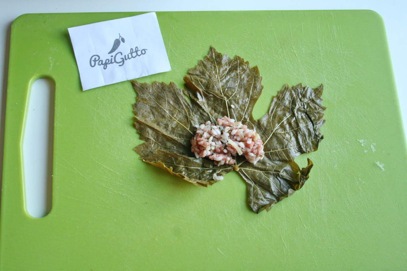 Голубцы из листьев винограда пошаговый рецепт