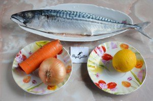 Скумбрия в духовке (рыба запеченная в фольге) 1