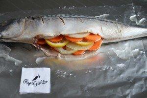 Скумбрия в духовке (рыба запеченная в фольге) 7